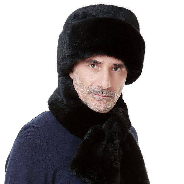 Мужская мартен имитация норки шляпа среднего возраста мужчин плоская крышка мужской зима утолщение Клауса B-0652