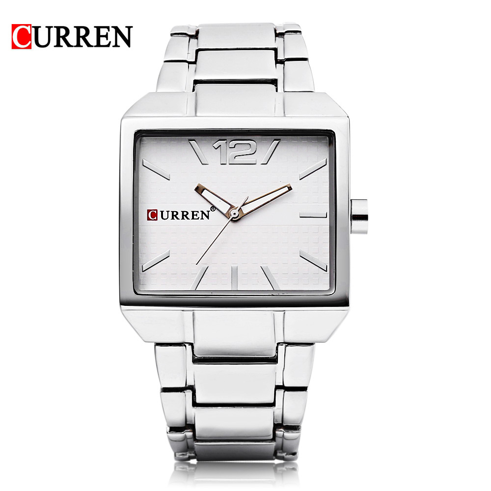 CURREN 8132 Men New Fashion Sports Watches, Quartz Analog Man Business Quality All Steel Watch Luminous Pointer 3 ATM Waterproof