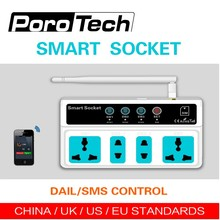 Free shipping SC3-GSM GSM SIM Card Phone/Call/SMS Remote Control Universal Wireless Smart Socket power Switch 4 Outlets