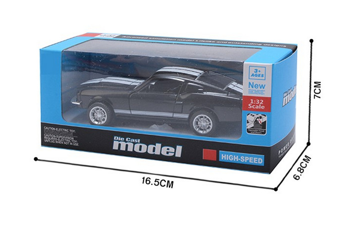 Ford Mustang GT 1967 GT500 Toy Car 13x5x35cm 11