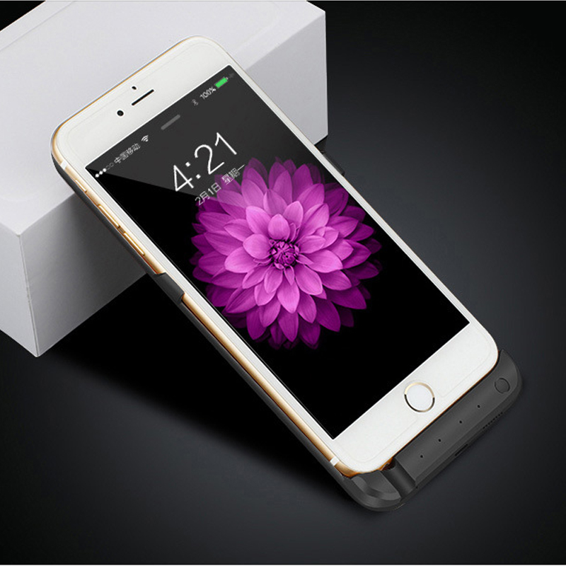bilder für NEWDERY 10000 External Power unterstützungsladegerät Fall für iPhone 6 6 s 7 Plus mit usb-kabel 5000 mAh