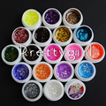 Nail Art Paint Draw Painting 18 Color Glitter Acrylic Color UV Gel  Builder False Tips Acrylic Nail Art Polish Kit Set