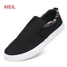 2018 Fashion Men Canvas Flat Shoes Loafers Mens Slip On Espadrilles Student Sneakers Casual Breathable
