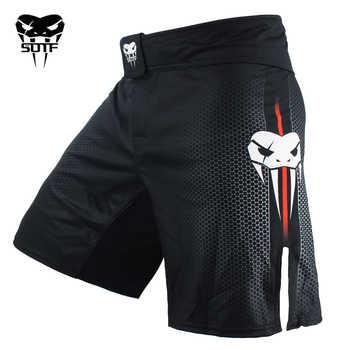 SOTF mma Adults Venomous snake Men Women geometric boxing shorts Tiger Muay Thai mma shorts boxing clothing fight shorts sanda - DISCOUNT ITEM  49% OFF All Category