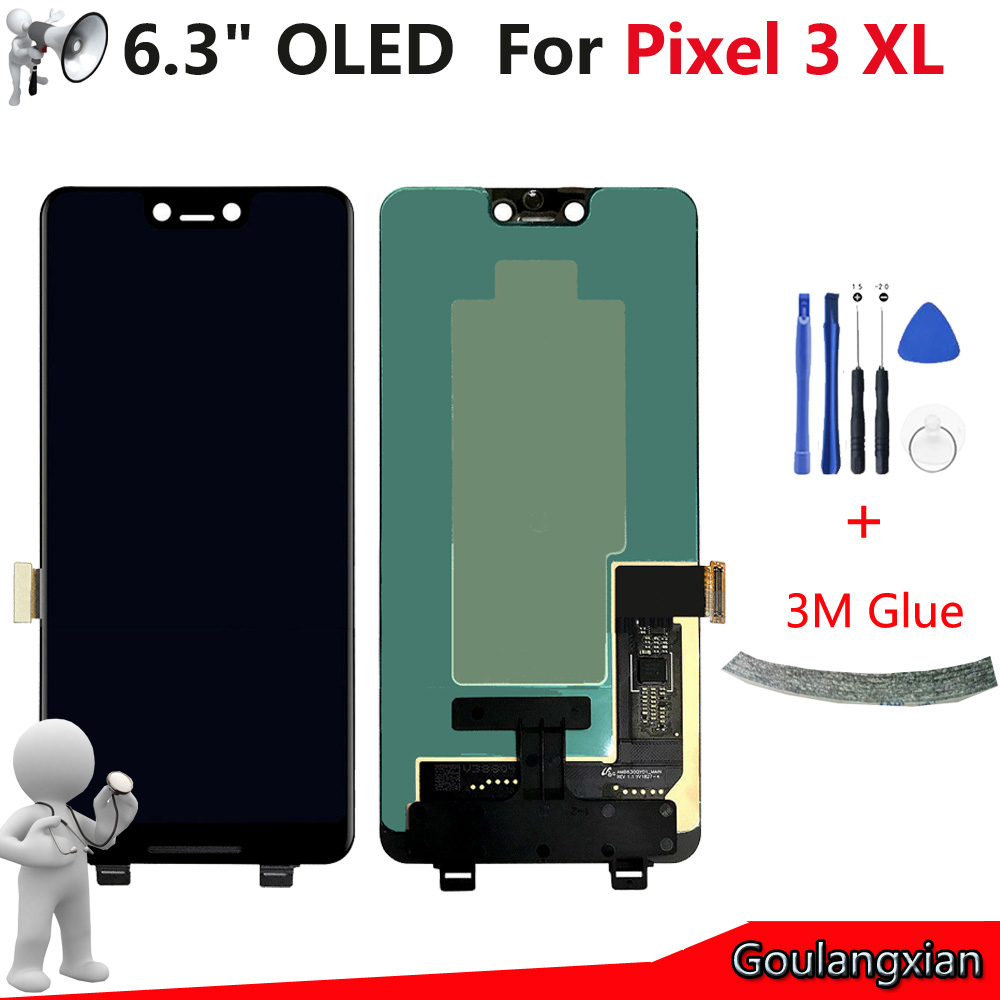 6.3 AAA OLED LCD For Google Pixel 3 XL LCD Display + Touch Screen Digitizer Assembly For Pixel 3XL Lcd Replacement + Tools