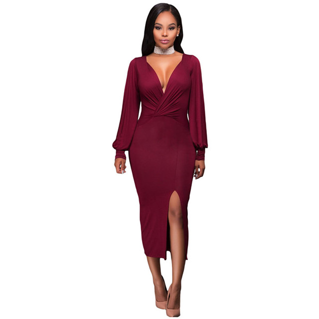 Ruched long sleeve purple dress