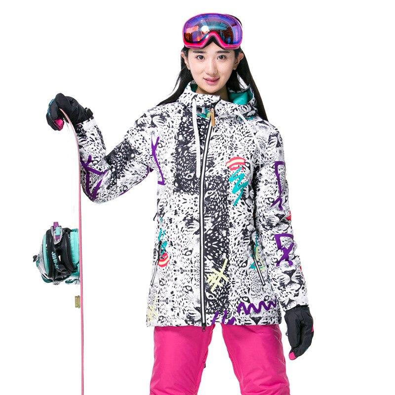 Prix pour Gsou Neige Veste De Ski De Marque Femmes Coupe-Vent Imperméable Snowboard Veste Chaud Sport En Plein Air Veste