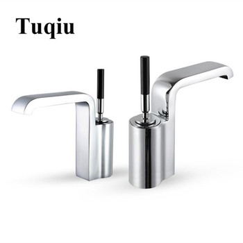 Bathroom Single Lever Hot and Cold Brass chrome or black basin faucet sink tap