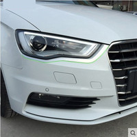 front headlight eyebrow headlights box car modification trim parts for audi A3 hatchback sedan accessories