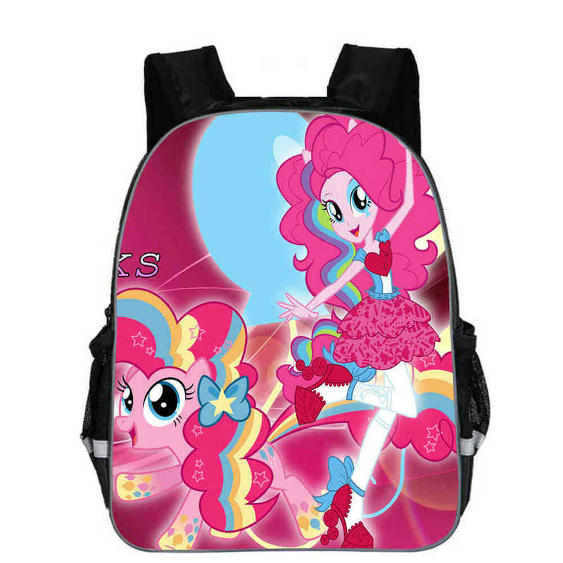 Baby Schoolbag 3D Print Cartoon Pony girls Kids School bags Child Backpacks Kids Satchel Mochila Infantil bags support costomzeBaby Schoolbag 3D Print Cartoon Pony girls Kids School bags Child Backpacks Kids Satchel Mochila Infantil bags support costomze