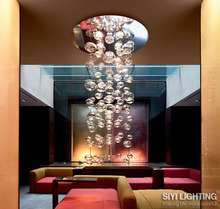 D50CM*H300CM Ether Murano Due Bubble Glass Chandelier by Patrick Jouin from Leucos LED Lighting Fixture(China)