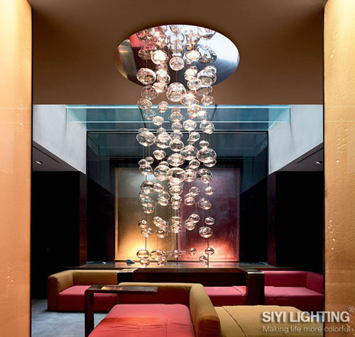 D50CM*H300CM Ether Murano Due Bubble Glass Chandelier by Patrick Jouin from Leucos LED Lighting Fixture