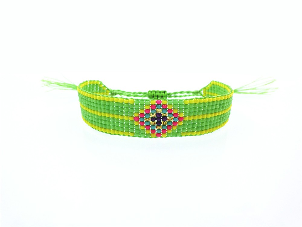 AMIU Handmade Seed Beads Friendship Bracelet Beaded Custom Mix-Colour Eye Friendship Bracelets For Women Men 18 Dropshipping 8