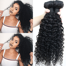 Deep Curly Brazilian Virgin Hair Weave Bundles 100% Human Hair Bundle Extension Natural Black Color Dolago Hair Products