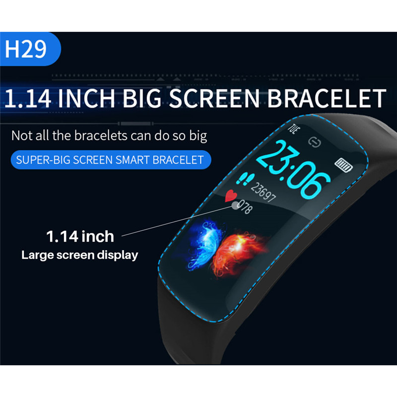 Image 2 - LIGE Sports smart watch Men IP67 Waterproof Fitness Tracker 1.14 Large Screen Blood Pressure Heart Rate Monitor For Android ios-in Smart Wristbands from Consumer Electronics