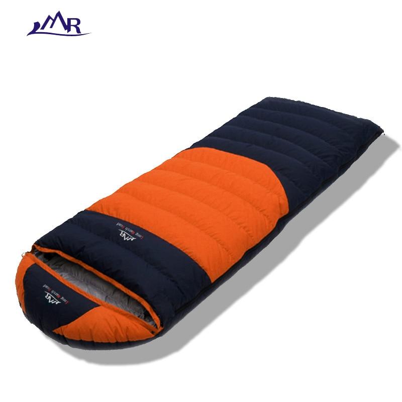 цена LMR Ultralight winter sleeping bag duck down outdoor camping waterproof envelope style filling 90% down breathable sleeping bag