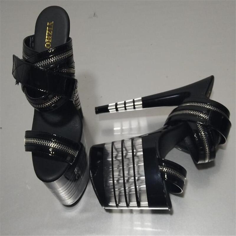 Cristal Pulgadas Baile 20 Sandalias Correa Cremallera 8 Cm Alto Zapatos Tacón Preciosa De Plataforma Sexy Fiesta 1FyHYwF4q