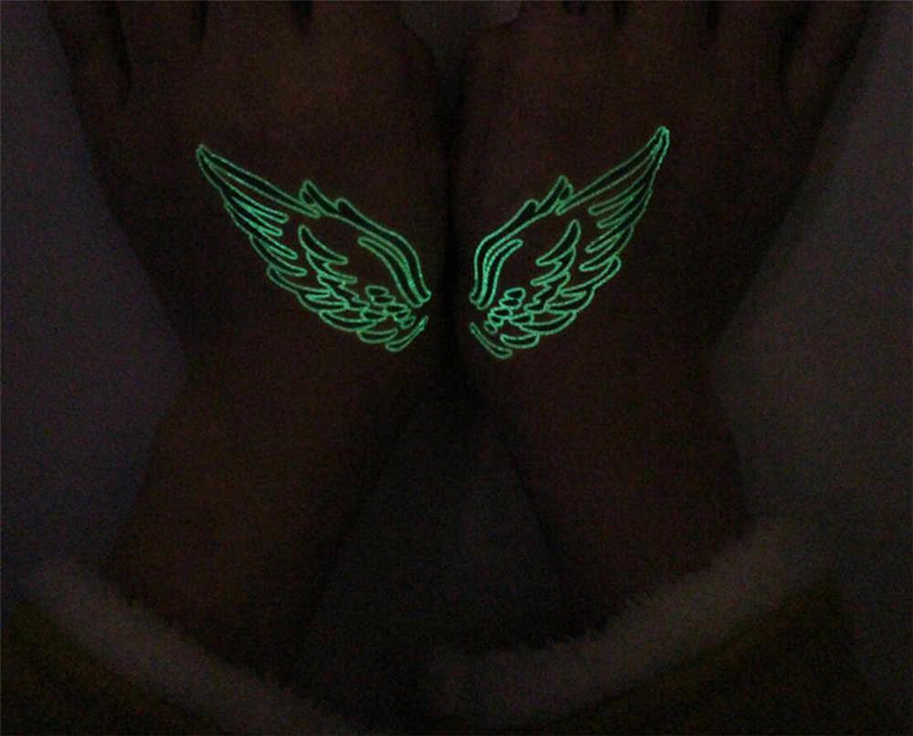 Hot สัญลักษณ์ Tattoo สติกเกอร์กันน้ำสีเขียว One - Time องค์ประกอบ Tattoo สติกเกอร์เรืองแสงของเล่น