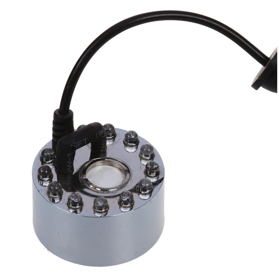 где купить Ultrasonic Mist Fountain Maker Fogger Water Fountain Mist Diffuser Humidifier Pond 12 LED Changing Night Light For Party по лучшей цене