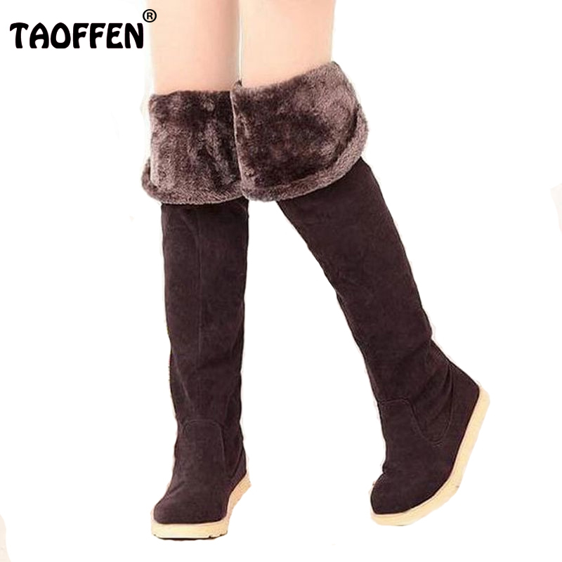 women flat over knee boots ladies riding fashion long snow boot warm winter brand botas footwear shoes AH087 size 34-43
