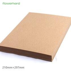 200gsm 10/20/50 unids A4 Brown Kraft Papel DIY Handmake Card Arte de La Fabricación de Papel de Alta Calidad de Espesor cartón Cartón