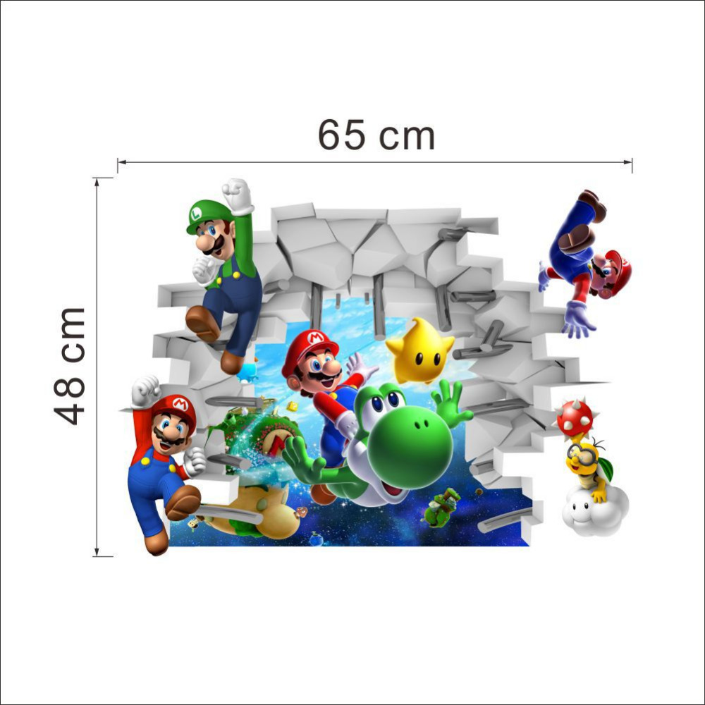 Home supermario games supermario wallpapers - Aliexpress Com Buy Top 3d Wallpaper Cartoon Game Super Mario Bro Poster Decal Wall Stickers Home Decor For Kids Room From Reliable Stickers Home Decor