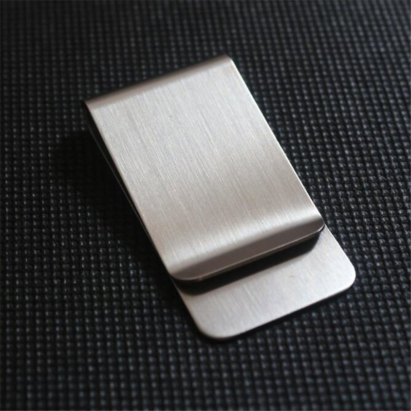 1 PC de Alta Qualidade Em Aço Inoxidável Grampo do Dinheiro de Metal Moda Simples Prata Dólar Dinheiro Grampo Titular Carteira para Mulheres Dos Homens