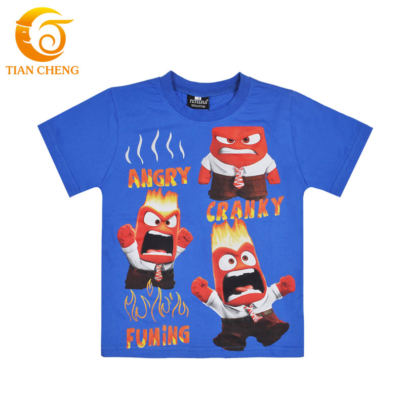 2 10year old inside out children t shirt 100 cotton Boys superhero t shirts