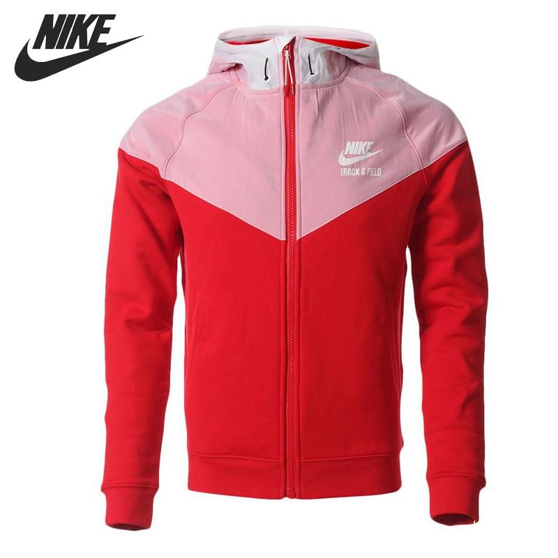 Original NIKE Men's jacket Hooded sportswear original nike men s black knitted jacket hooded sportswear