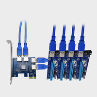 PCI EX1 To PCI EX16 Expansion Card 4 Ports USB 3 0 Converter Adatper Riser Cards