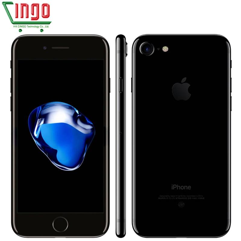 Разблокирована Apple iPhone 7 2 ГБ Оперативная память 32/128/256 ГБ Встроенная память 4.7 iOS 10 сотовый телефон 12.0mp Камера 4 ядра 4 К видео LTE 1960 мАч
