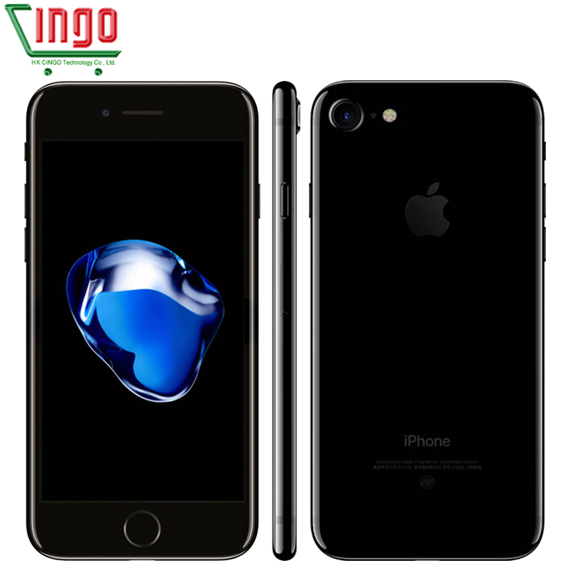 Desbloqueado Apple iPhone 7 2 GB RAM 32/128/256 GB ROM 4.7 IOS 10 Telefone Celular 12.0MP Câmera Quad Core 4 K Vídeo LTE 1960 mAh