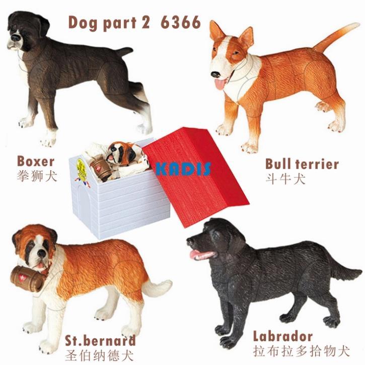 Dogs Puzzles 4pcs 3D Animal Puzzle 6366-2 Educational Toy KADIS Plastic Animal Toys 3d Puzzle