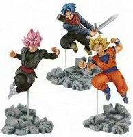 3pcs Lot Dragon Ball Super Soul X Soul Super Saiyan Son Gokou Goku Trunks Rose Gokou