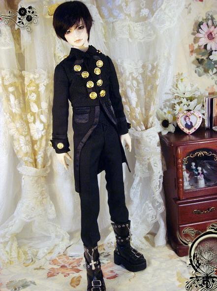 [wamami] 510#3pc Black Prince Noble Gentleman Suit/Outfit 1/3 SD BJD Dolls Boy Dollfie