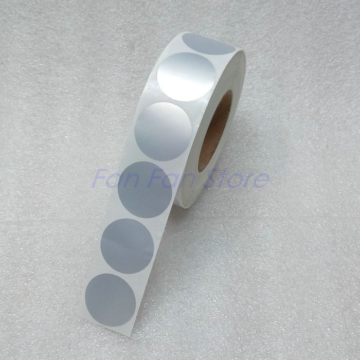 Round label sticker 25 x 25 mm diameter 2 5 cm matte silver pet sticker blank label waterproof tear resistant oilproof in copy paper from office school