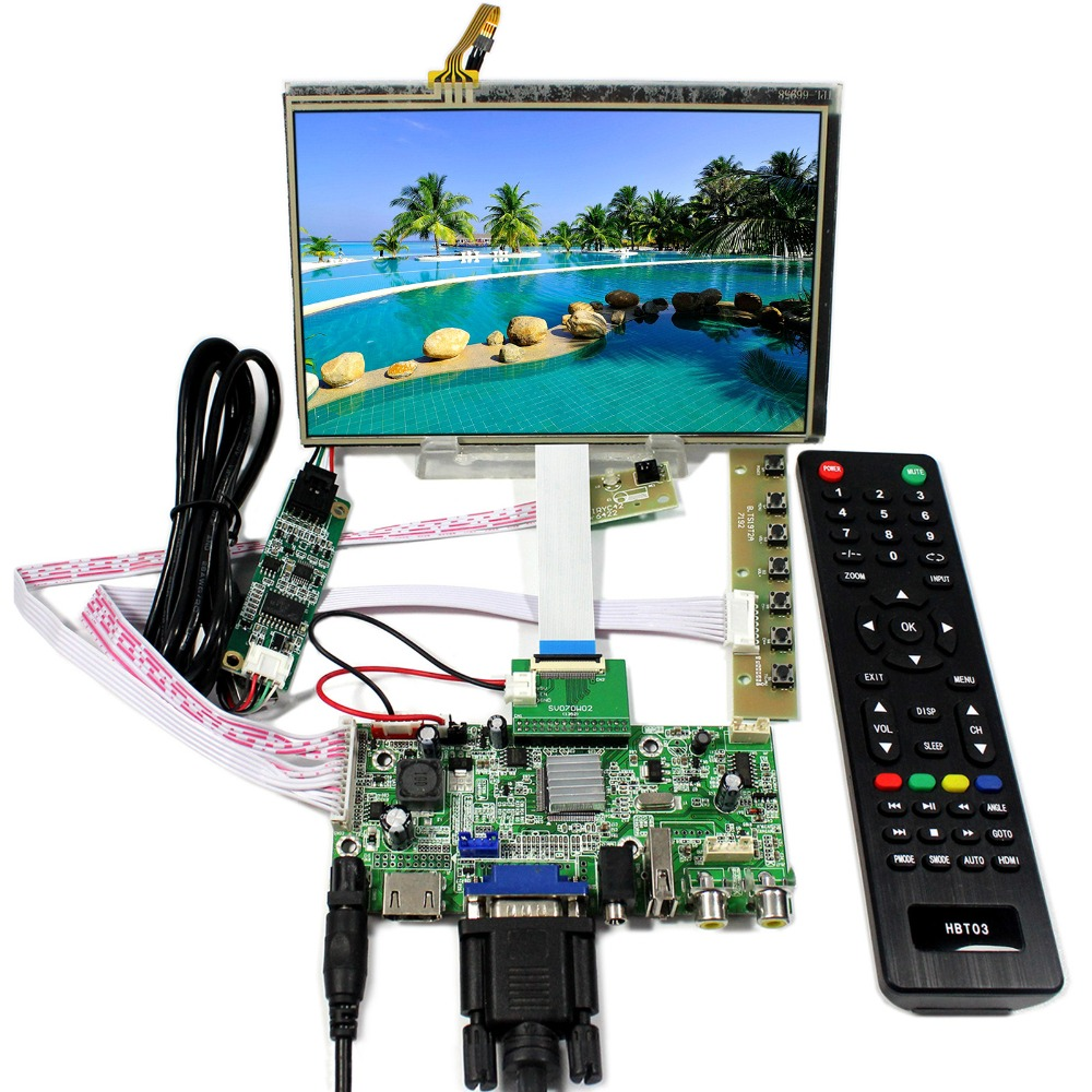 HDMI VGA 2AV USB Audio LCD Controller board With 7inch 1280x800 HSD070PWW1-C00 Touch LCD Screen vga lcd controller board 10 1b101ew05 1280x800 lcd screen