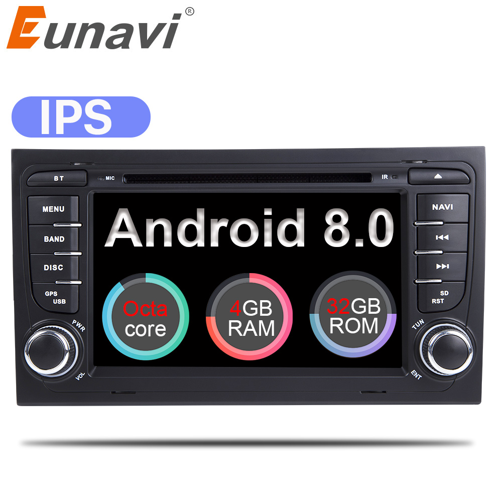 eunavi car multimedia player car radio 2 din gps android 8. Black Bedroom Furniture Sets. Home Design Ideas