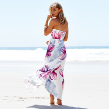 Backless Strapless Maxi Dress