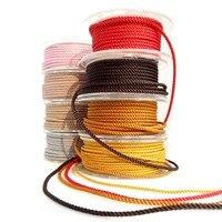 О Fit Миланский шнур TA 4 мм 200 м Jewelry аксессуары плетеные волокна шелка веревку хлопка темы браслет мастерства Бисер кружева