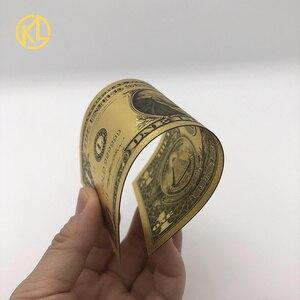 Бесплатная доставка 1 шт. Американский 1 доллар 24 к позолоченные поддельные деньги США купюры с COA рамкой