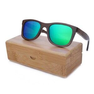 Image 5 - BerWer 2020 موضة النظارات الشمسية المستقطبة المتاحة نظارات شمسية خشبية من الخيرزان