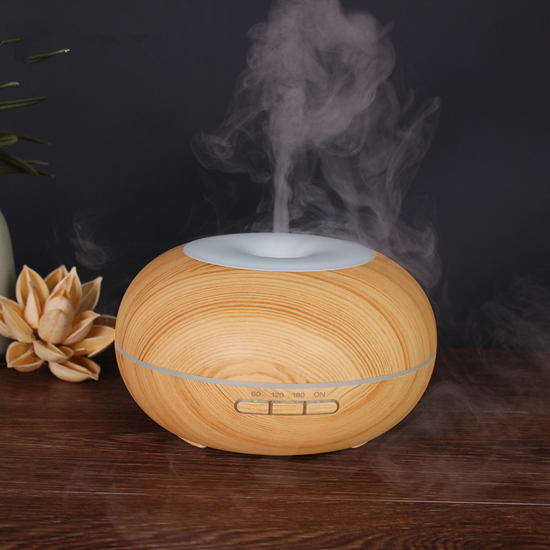 300ml Air Humidifier Aroma Essential Oil Diffuser Wood