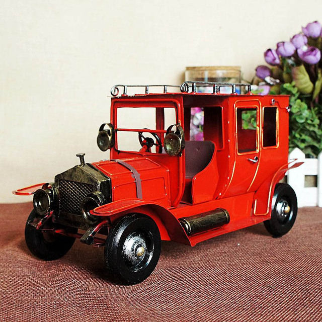 Мини-прекрасный удивительный старомодной классикой коллекционные металлические модели автомобиля игрушки для детей дети подарок симпатичные багажная полка