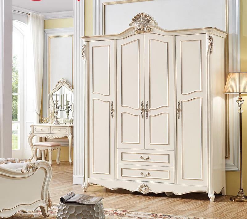 ProCARE Bedroom Furniture China Antique Solid Wood 3 4 Doors Wardrobe font b Closet b font