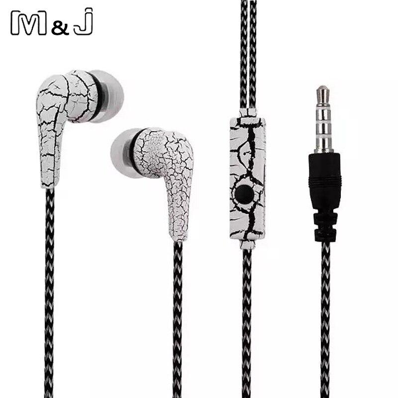 Gutherzig M & J Original Handys Kopfhörer Eis Risse Design Kopfhörer Ohrhörer Mit Mikrofon Für Iphone Samsung Ohrhörer Für Xiaomi Hohe QualitäT Und Geringer Aufwand