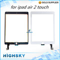 1 piece HK free shipping 100% tested for ipad 6 6th lcd glass with flex cable for ipad air 2 touch digitizer