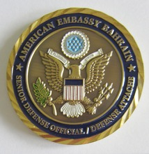 Newly designing & Big discount Eagle logo round military silver coin