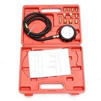 Auto Cylinder Leakage Tester Dual Pressure Gauge Petrol Gas Engine Cylinder Compression Gauge Tester Diagnostic Test Tool Kit