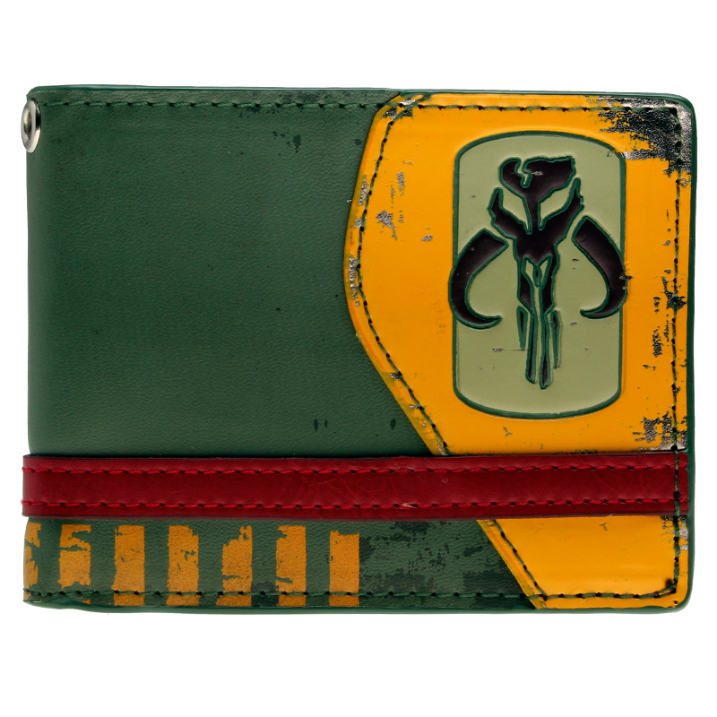 Star Wars Mandalorian Green Bi-Fold Wallet  DFT-1205 star trek command metal logo bi a fold wallet dft 1404